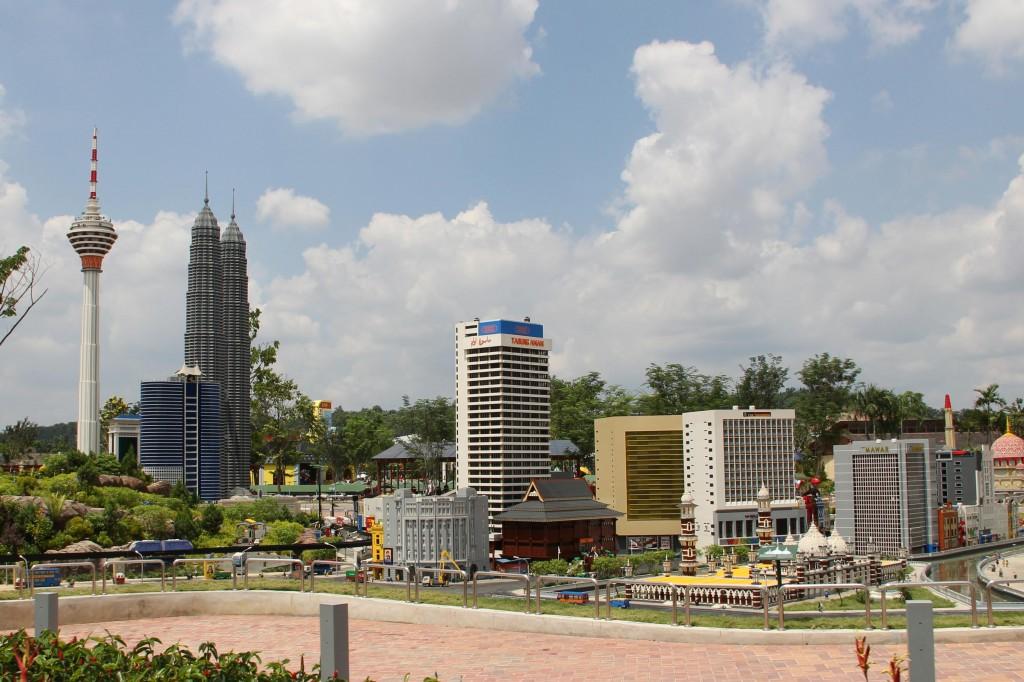 Legomodell: Miniature av Kuala Lumpur