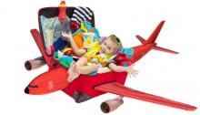 Barn på fly