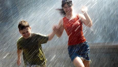 Løper i regnet